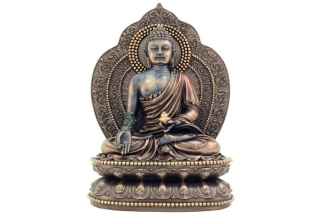 Fiberglass Brown Finish Buddha statue