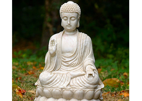 Fiberglass Buddha Off white and design finish