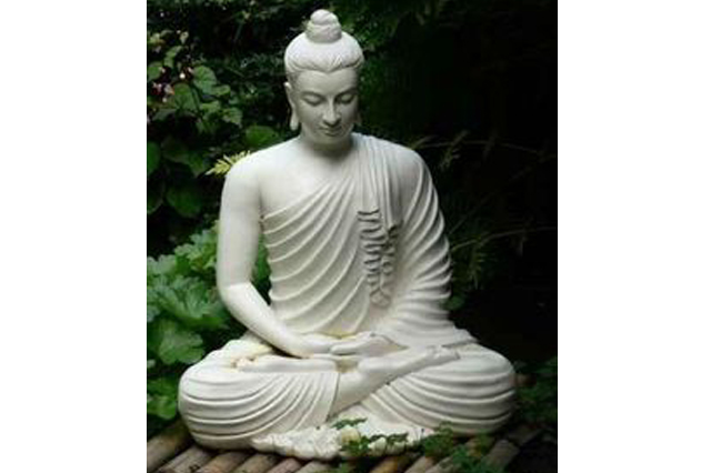 Fiberglass Buddha White finish