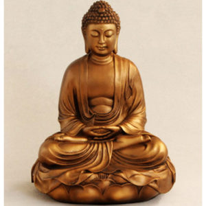 Fiberglass Buddha metalic finish