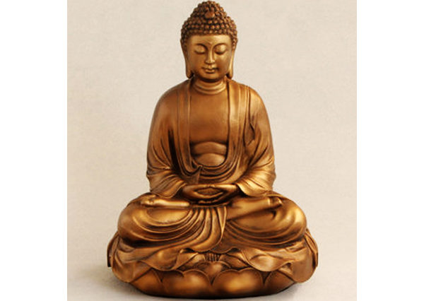 Fiberglass Buddha metalic finish