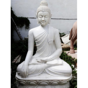 Fiberglass Buddha statue Shiney Finish
