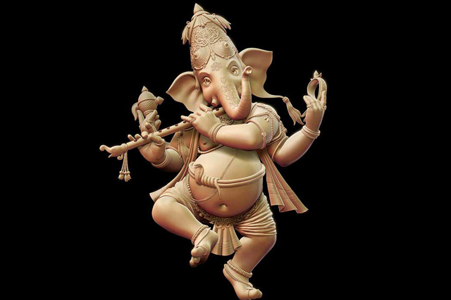 Fiberglass Dancing Ganesha