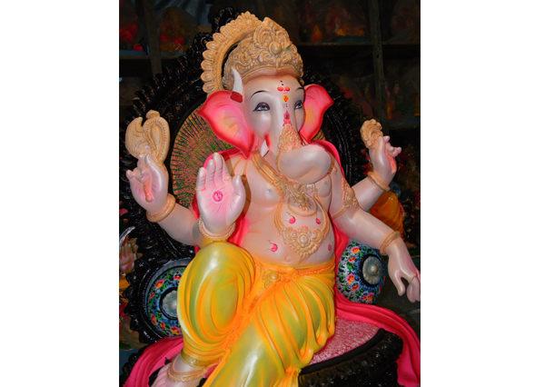 Fiberglass Ganesha in Blessing mode