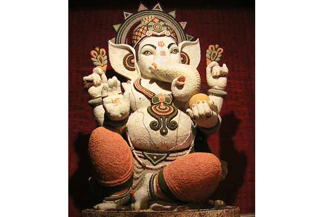 Fiberglass Ganesha in Sand finish