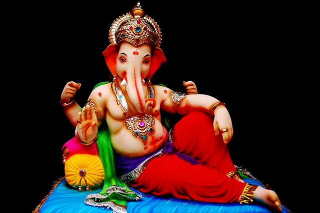Fiberglass Ganesha resting