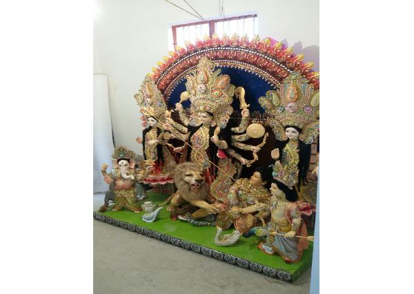 Fiberglass Akchali Colorful Maa Durga