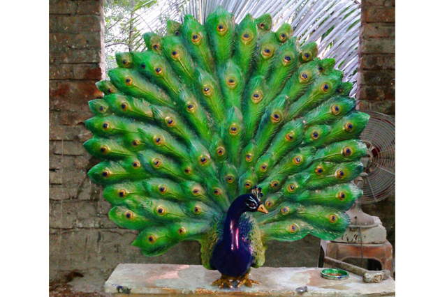 Fiberglass Peacock