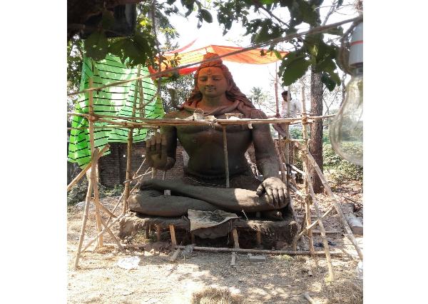 Fiberglass Shiva in Clay work