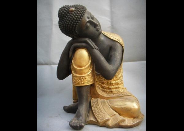 Fiberglass Thinking Buddha