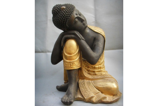Fiberglass Thinking Buddha