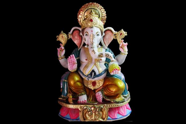 Fiberglass sitting Ganesha