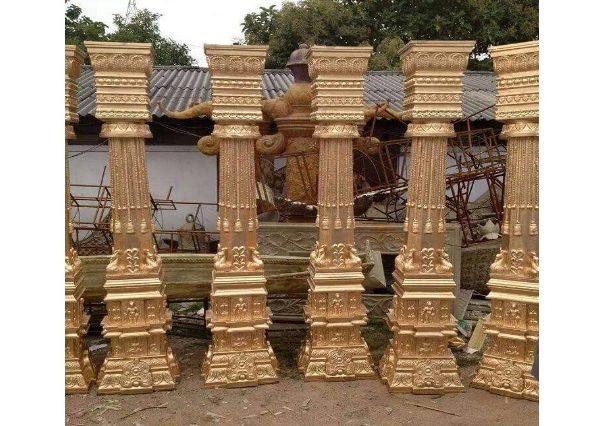 Fiberglass Golden Finish pillars