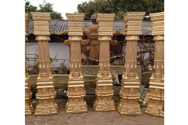 Fiberglass Golden Finish pillars
