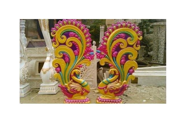 Fiberglass peacock pillars