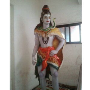 Fiberglass Beautifully colored Standing Shiva Statue