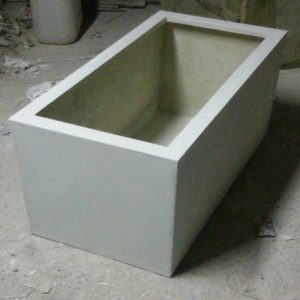 Fiberglass White finish planters