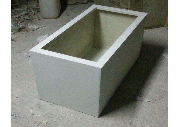Fiberglass White finish planters