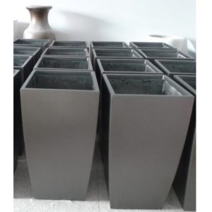Fiberglass Rectangular Drum planter