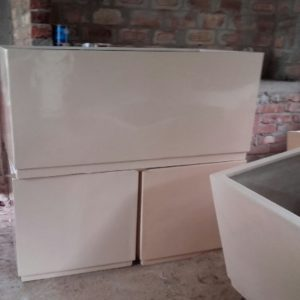 Fiberglass Off White finish big planters
