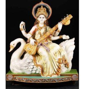 Maa Saraswati Statue in Fiber