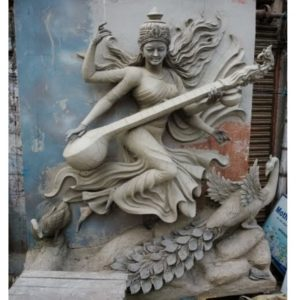 Maa saraswati Statue in Clay work