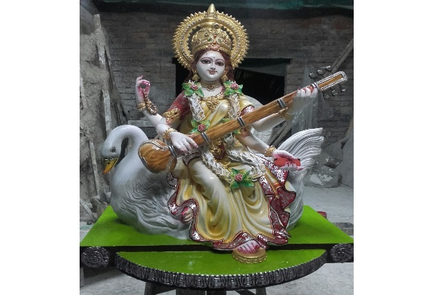 Fiberglass Saraswati Statue