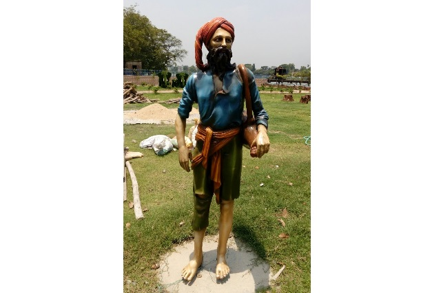 Fiberglass Baul Sculpture