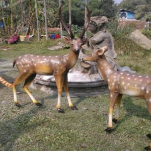 Fiberglass Deer Sculptures