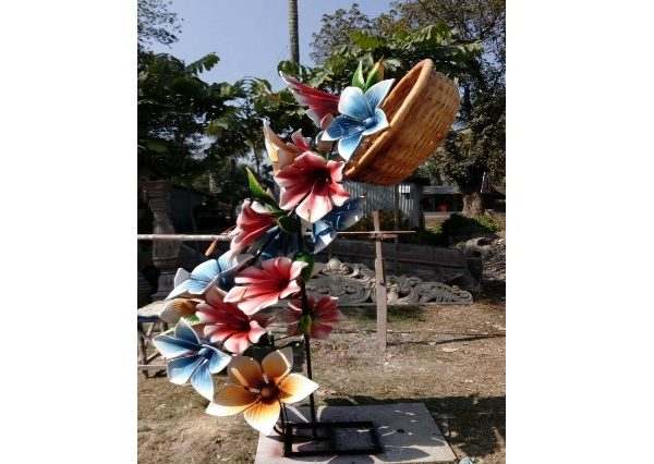 Fiber Made Flower Design