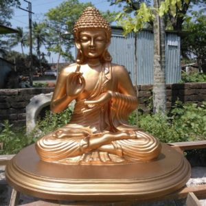 Fiberglass Golden finish Buddha statue