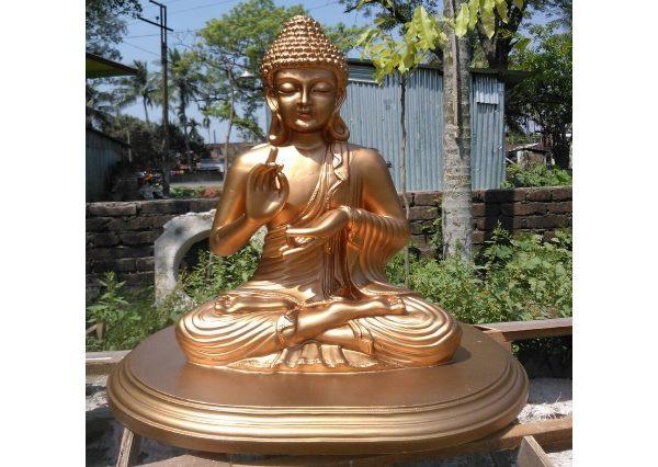 Fiberglass Golden finish Buddha statue