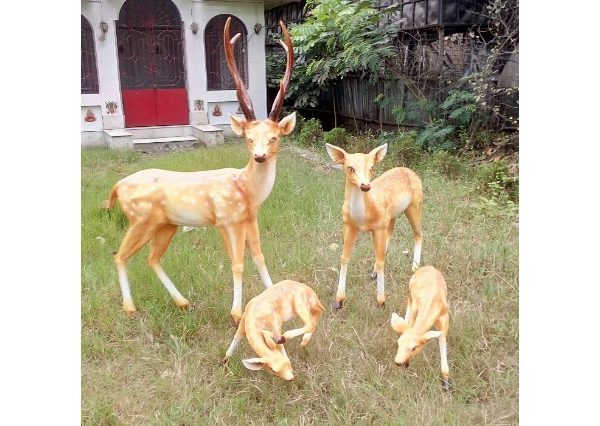 Fiberglass Deer Sculptures