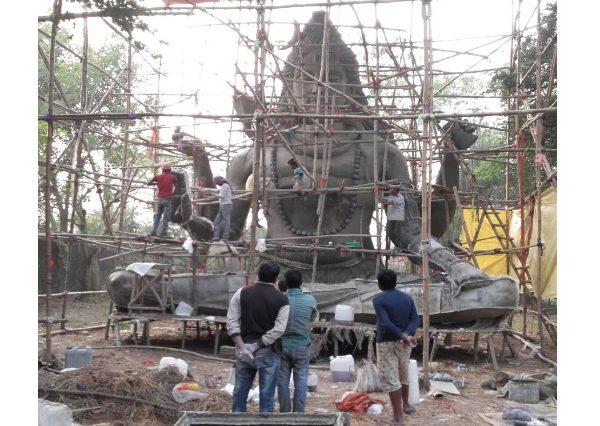 Fiberglass 35 feet Lord Shiva Statue