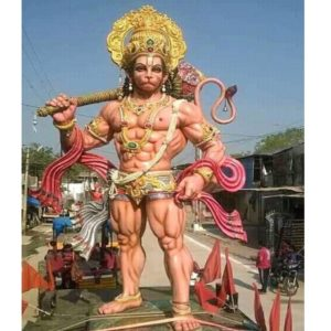 30 Feet Fiber Lord Hanuman Statue