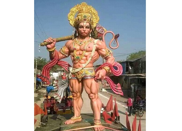 30 Feet Fiber Lord Hanuman Statue