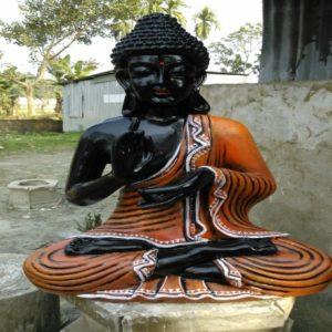 Fiberglass Black Buddha Statue