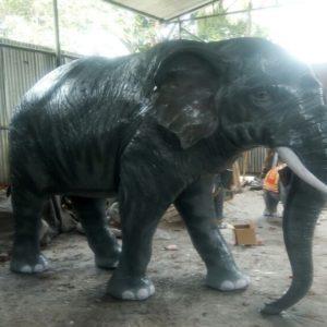 Fiber Elephant Statue, 8 Feet