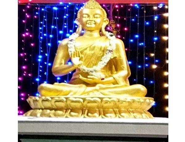 Fiber Golden Buddha Statue