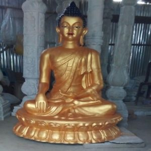 Fiberglass Golden Finish Lord Buddha Statue
