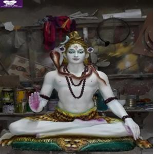 Fiber Sitting Lord Shiva Statue