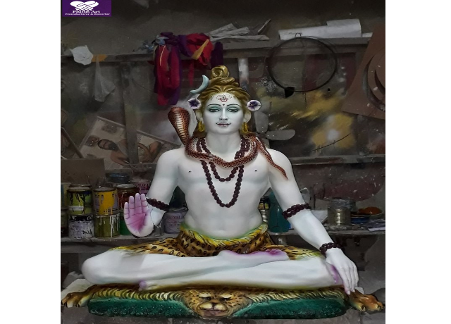 Fiber Sitting Lord Shiva