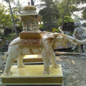 Fiberglass Welcome Elephant for Home Decorations