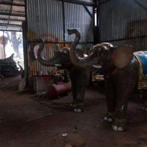 Fiberglass Small Elephant Statues