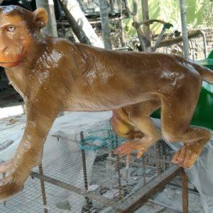 Fiberglass Monkey Statue