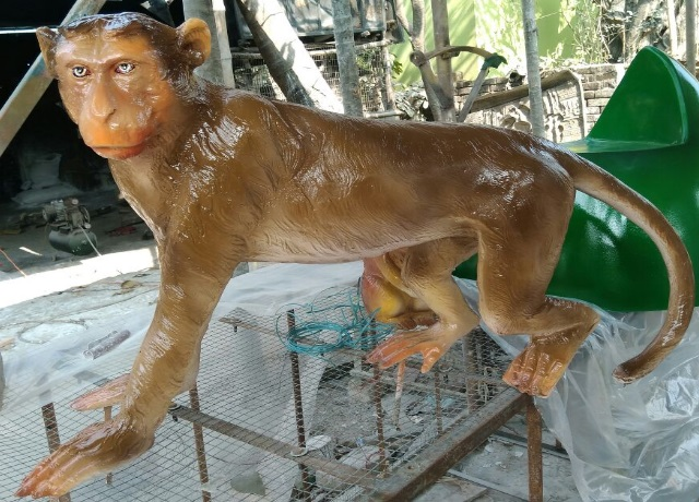 Fiberglass Monkey Statue