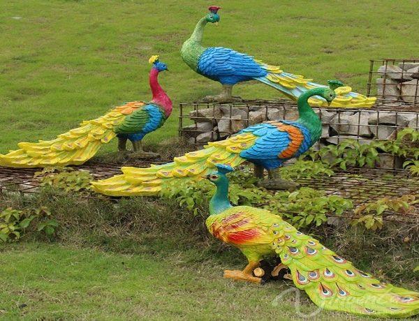 Fiberglass Peacock Statue