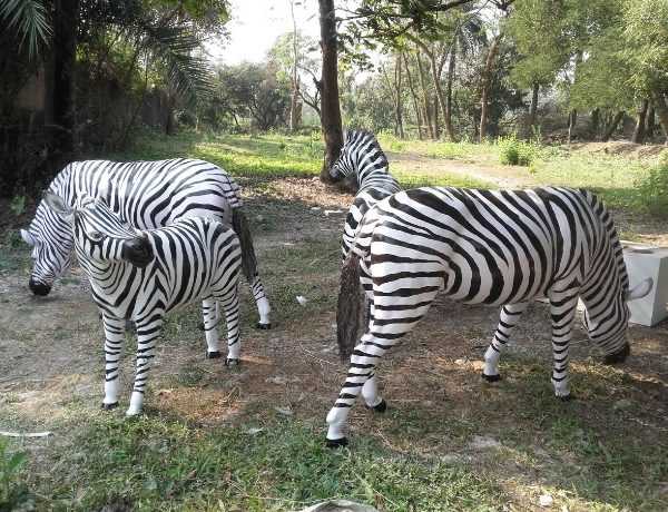 Fiberglass Zebra Statue