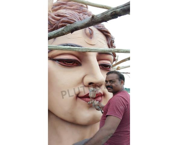 30 Feet Fiberglass Lord Shiva Statue