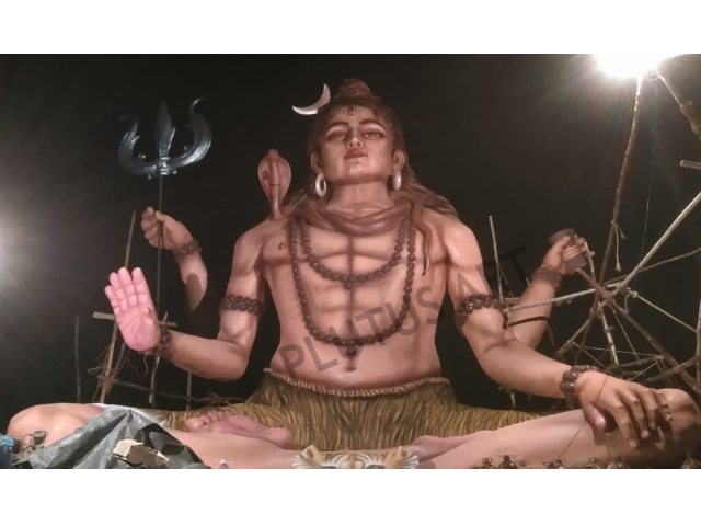 30 Feet Fiberglass Lord Shiva Statue